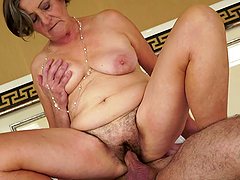 Granny Gets to Suck and Be Fucked by a..