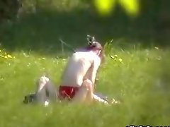 Horny Naked Couple in the park Exposed..