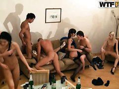 Massive Orgy With And Their..