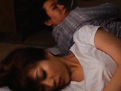 Unsatisfied Japanese Babe Masturbating..