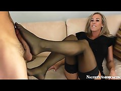 Classy mom Brandi Love blows him and..