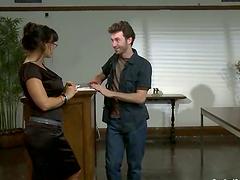 James Deen ties Lisa Ann up before..