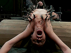 Shit loads of clamps in bondage scene!