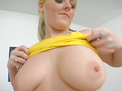 Big booty blonde bitch gets fucked hard