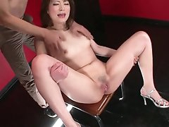 Girl opens her legs and her pussy..