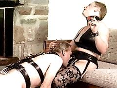 Mature mistress in nasty femdom
