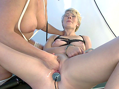 Blonde electro slut gets an electric..