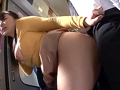 Japanese hussy gets fucked by a..