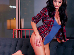 Anna Lynn exposes her holes during a..