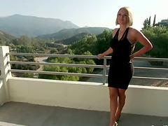 Blonde chick with big boobs gets..