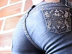 Teen Latina shows her ass while..