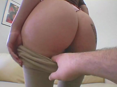 Bootylicious redhead's nailed by a..