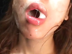 Slutty japanese gets filled with cream