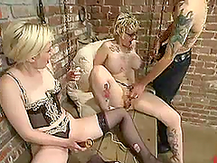 Short-Haired Blonde Gets Toyed and..