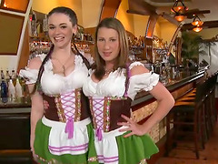Hot chicks in traditional German..