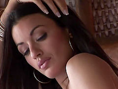 Brunette babe Jo Garcia shows her flawless body for the cam