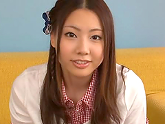 Super Cute Japanese Babe Gets A Facial