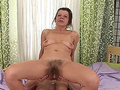 Nasty granny Ludmila fucks Steve Q and..