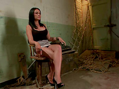Ashli Ames allows Bobbi Starr to drill..