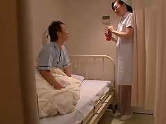 Japanese nurse plays with some dude's..