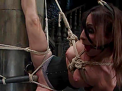 Amber Rayne gets chained, fucked with..