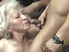 Horny grannies in group hardcore