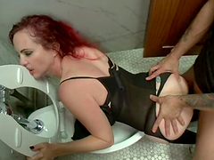 Redhead girl from Germany gets fucked..