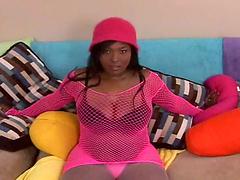 Voluptuous ebony oils up her huge..