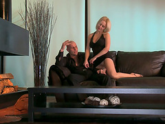 Hot blonde gets fucked from behind and..