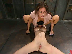 Two girls are in the femdom passion..