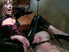 Latex Clad Bitch Maitresse Madeline..