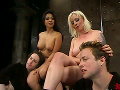 Cock Torture and Pegging with Face..