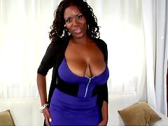Ebony with big tits gets fucking fucked