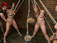 Wild BDSM with a lot of rope bondage..