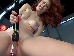 Curly haired redhead loves it huge and..
