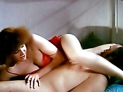 Hairy babe in retro hardcore