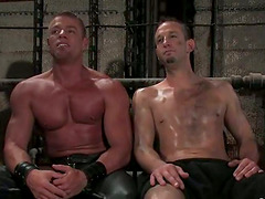 Gay Action with Torture and Bondage in BDSM Porn Clip