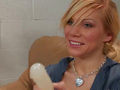 Horny Blonde MILF Sascha Sin Surprisingly Orgasms with a Sex Device