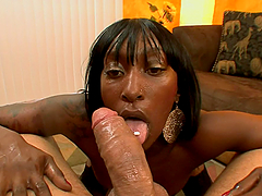 Ugly ebony girl is going to make your..