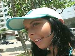 Horny Brazilian Tramp Having Fun on..