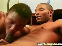 Two skinny Black guys suck dicks and..