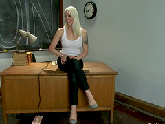 Filthy teacher gets hogtied and balled..