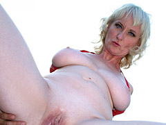 Mature Blond Gets Shaved Pussy Ravaged