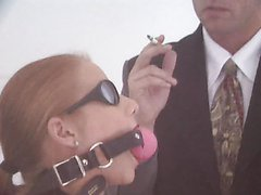 Submissive Blonde Gets Double..