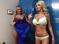 Blonde Milfs Have A Sticky Threesome..