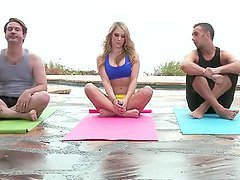 Erotic Yoga With The Hot Blonde  Amber..