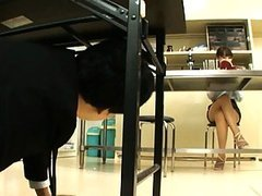 Kirara Kurokawa upskirt video in class..