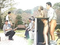 Big titty Asian fucked in public while..