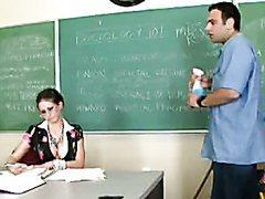 Horny Teacher Rachel Roxxx Swallows..