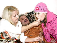 Sick old man shagged to make him feel..